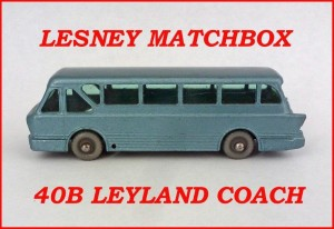 Lesney Matchbox MB40 Leyland Coach 40b
