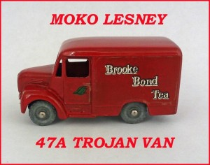 Moko Lesney Matchbox MB47 Brooke Bond Trojan Van 47a
