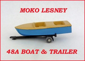 Moko Lesney Matchbox MB48 Sports Boat & Trailer 48a