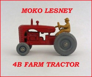 Moko Lesney Matchbox MB4 Massey Harris Tractor 4b