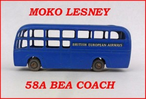 Moko Lesney Matchbox MB58 BEA Coach 58a