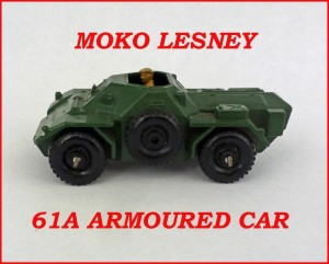 Moko Lesney Matchbox MB61 Ferret Scout Car 61a