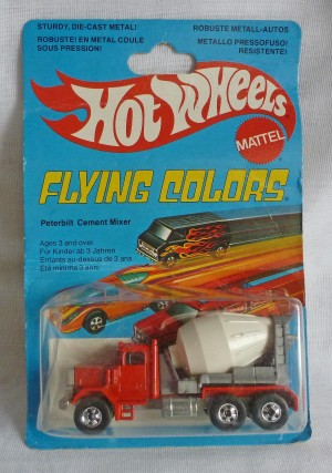 HotWheels Flying Colors Peterbilt Cement Mixer