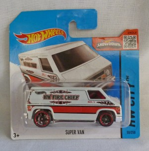 "HotWheels Super Van HW Fire Chief ""HW City"""