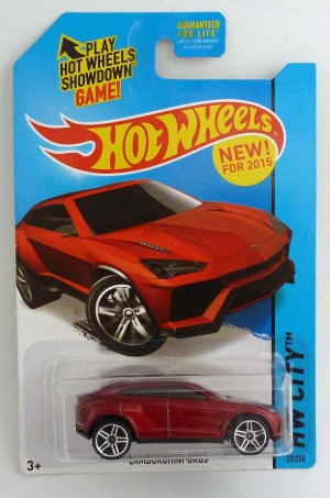 "HotWheels Lamborghini Urus Red ""HW City"""