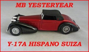 Matchbox Models of Yesteryear Y-17a Hispano Suiza