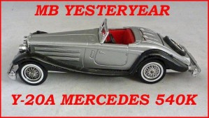 Matchbox Models of Yesteryear Y-20a Mercedes Benz 540k