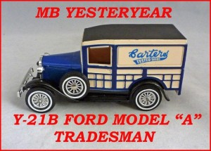 Matchbox Models of Yesteryear Y-21b Ford Tradesman