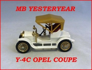 Matchbox Models of Yesteryear Y-4c 1909 Opel Coupe