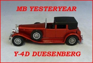 Matchbox Models of Yesteryear Y-4d Duesenberg