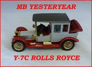 Matchbox Models of Yesteryear Y-7c 1912 Rolls Royce